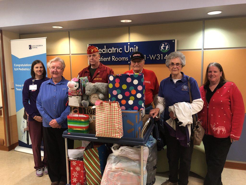Toy delivery to INOVA Loudon Hospital pediatrics